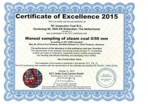 Round Robin Sampling Certificate 2015 RC-Inspection