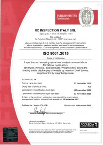 RC INSPECTION ITALY SRL 9001 INGL
